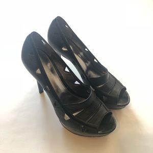 """CALVIN KLEIN """"Rikki"""" Black Stiletto Heels"""